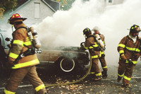 Stamford FD Car Fire at 185 Stillwater Ave. Unknown Date.