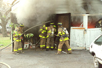 Stamford FD Garage Fire at 32 Hanrahan St. Unknown Date.