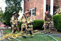SFD and GFD on scene with an apartment fire at 453 Glenbrook Rd. June. 14, 2015
