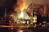 SFRD dealing with multiple tractor trailers on fire