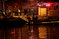SFD on scene with a car into the water behind O&G.  Oct. 9, 2015