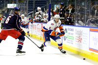 Bridgeport Sound Tigers Players .vs. Springfield Falcons Oct. 13, 2015
