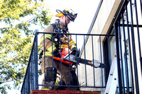 SFRD Porch fire at 12 Tuttle Street. May 1, 2012