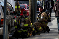 SFRD Ladder 1 and Engine 5 putting out a car fire on Franklin St. May 9, 2013
