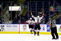 Portland Pirates players @ Bridgeport. Dec 5, 2015