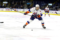 Bridgeport Sound Tigers players .vs. Lehigh Valley. April 10, 2016
