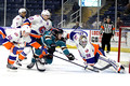Bridgeport Sound Tigers players only .vs. Worcester Sharks Mar. 15, 2014