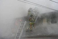 SFRD, Turn of River, and Belltown fighting house fire at 47 Summit Ridge Road. Apr 26, 2014