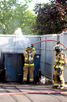 SFRD 3 Company scene of a dumpster fire at 221 Montauk Drive May. 26. 2014