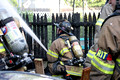 SFRD on scene with a garage fire at 14 Randall St. June. 29, 2014