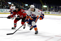 Bridgeport Sound Tigers Players .vs. Albany Devils Jan. 3, 2015
