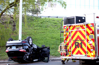 SFRD Engine 4 and Rescue 1 on scene with a 2 car MVA rollover May. 1, 2014