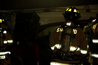 SFRD on scene of a car fire in the Stamford Town Center parking lot. July. 28, 2014