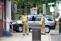 SFRD Engine 3 on scene with a car into Domino's on West Broad St. Aug. 4, 2014