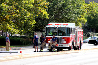 SFRD Engine 2 on scene with a car into a pole at 267 Tressier Blvd. July. 30, 2014