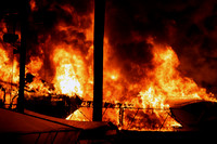 SFRD battling large boat fire, multiple boats fully involved Apr. 2, 2014
