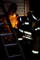 SFD on scene of a fire on Garden St and Manhattan St, Dec. 29, 2014